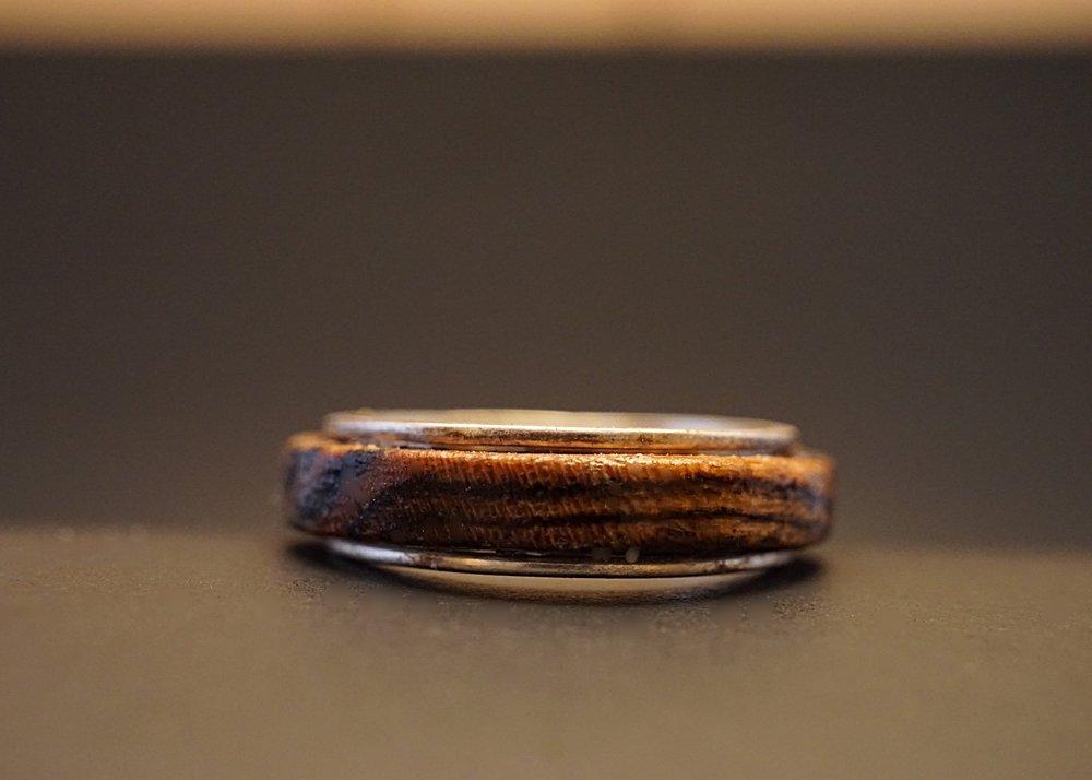 Bocote wood spinner ring