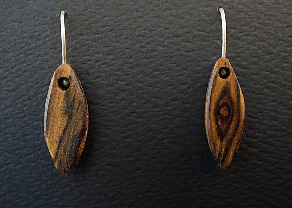 Bocote earrings