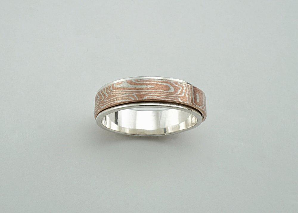 Mokume-gane ring