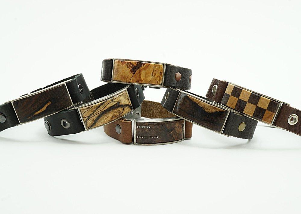 Exotic wood bracelets