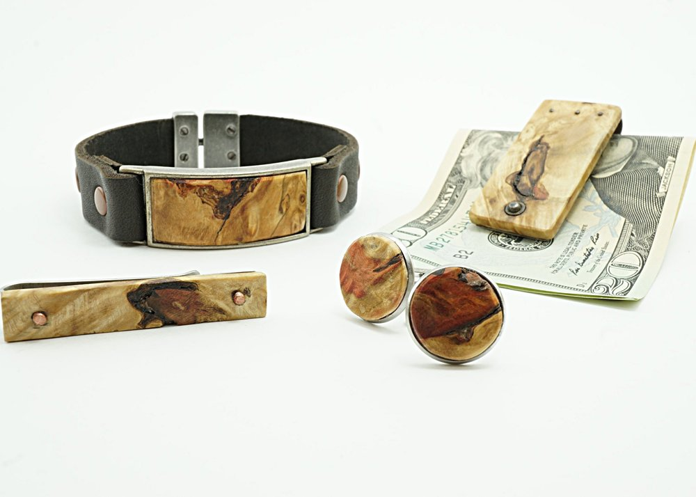 Box elder burl men's accessories