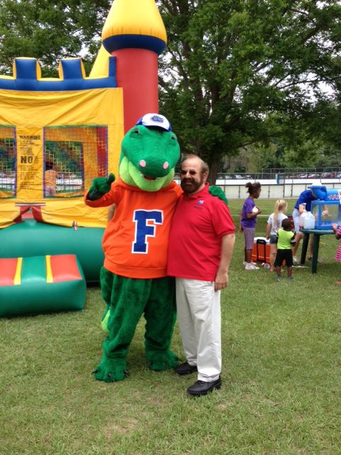 Dr. Elias Sarkis taking time to pose with Albert at the 4th Annual Stop the Stigma community event.