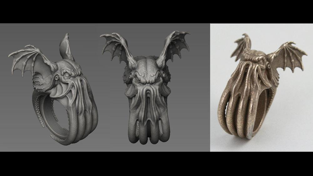 Cthulhu Ring (3D Printing)