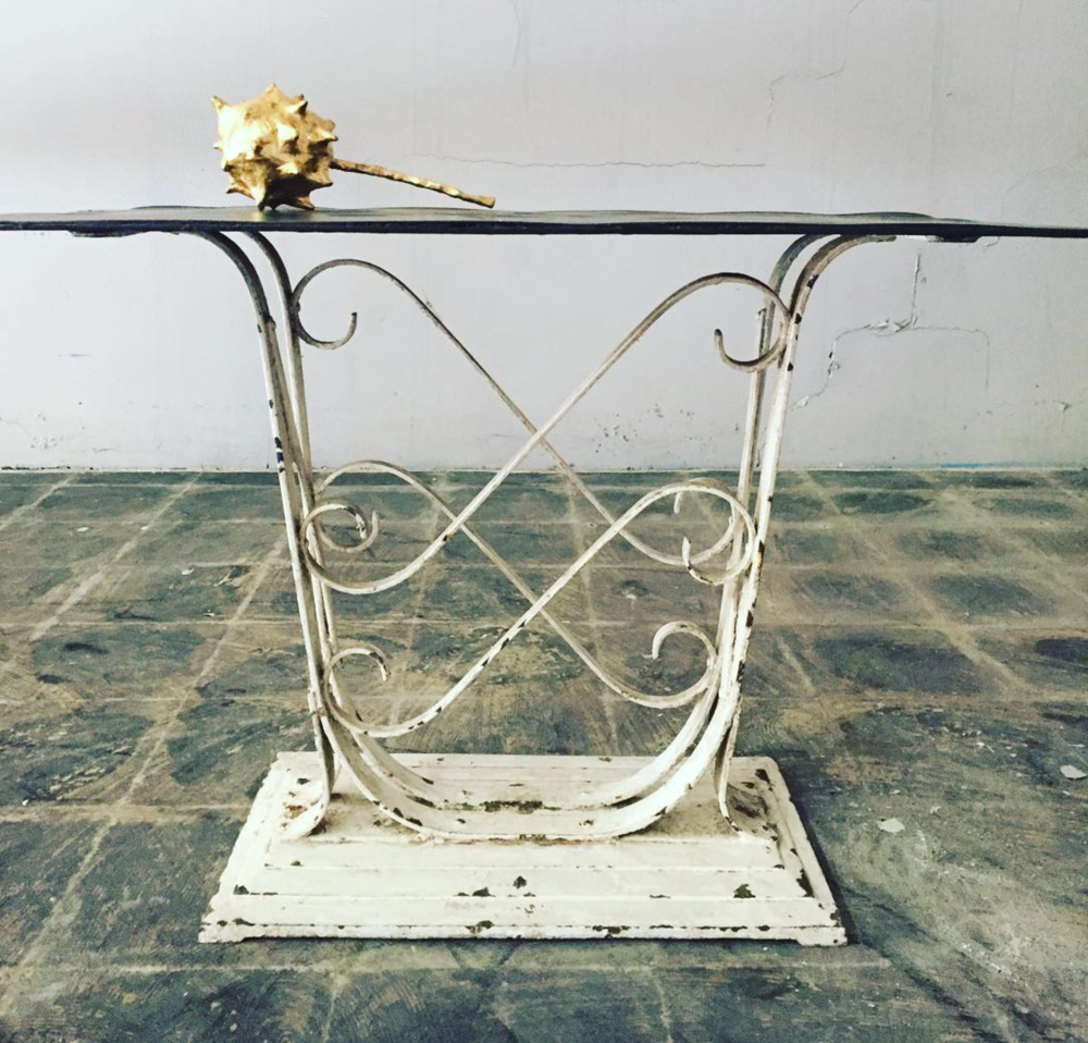 Early 19th Century French Iron Garden Table