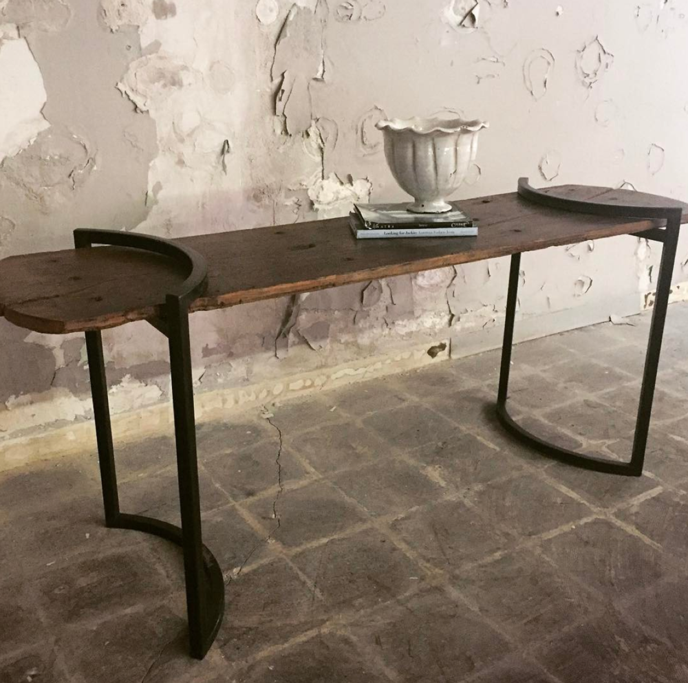 18th Century Spanish Door Transformed into Console Table