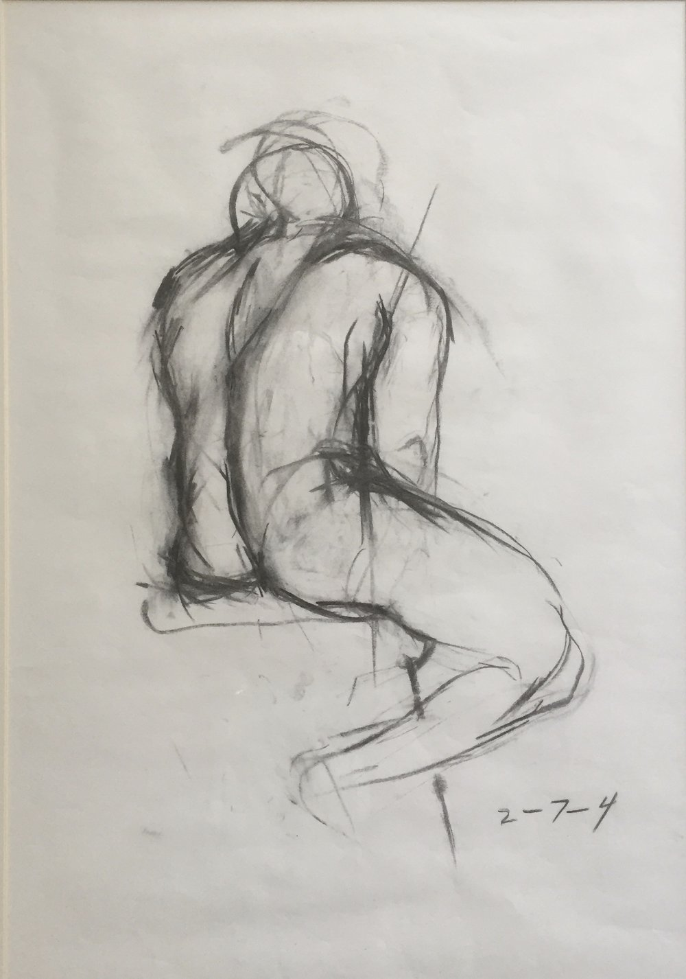 Charcoal Nude By Anne Merchant