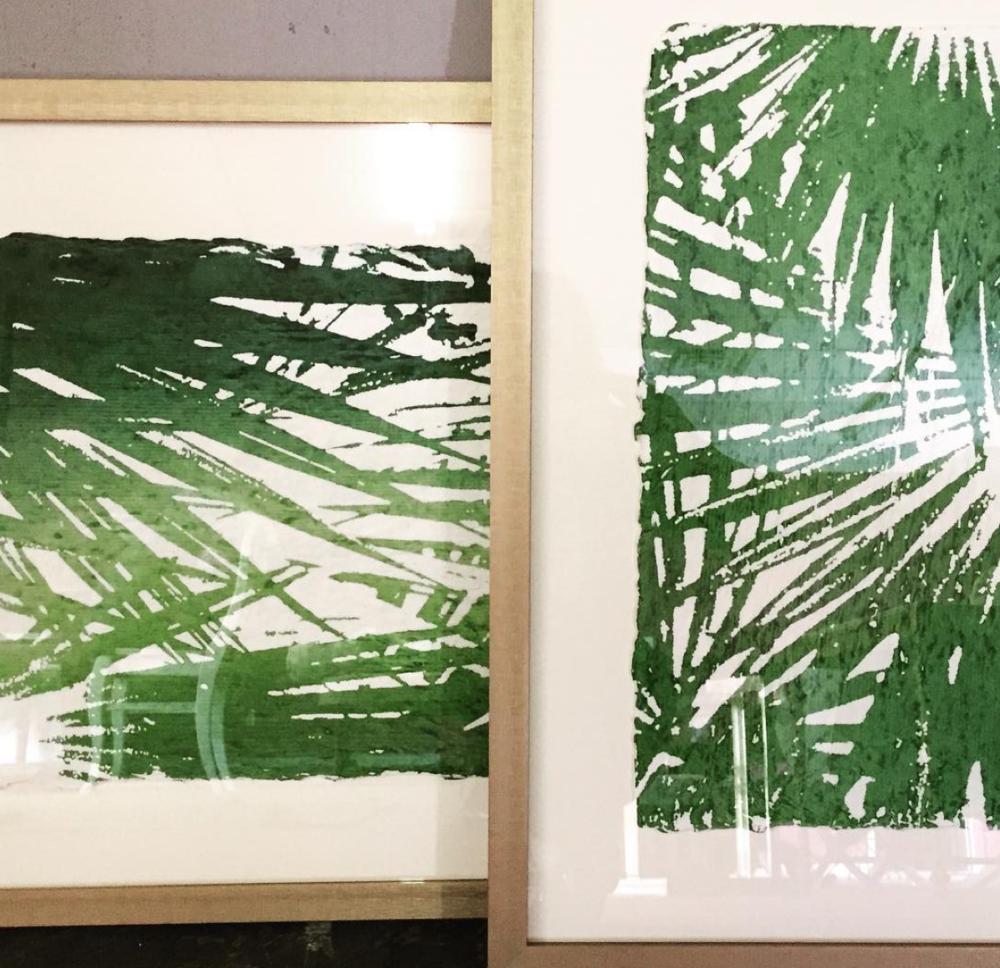 Tropical Screen Prints on Handmade Paper