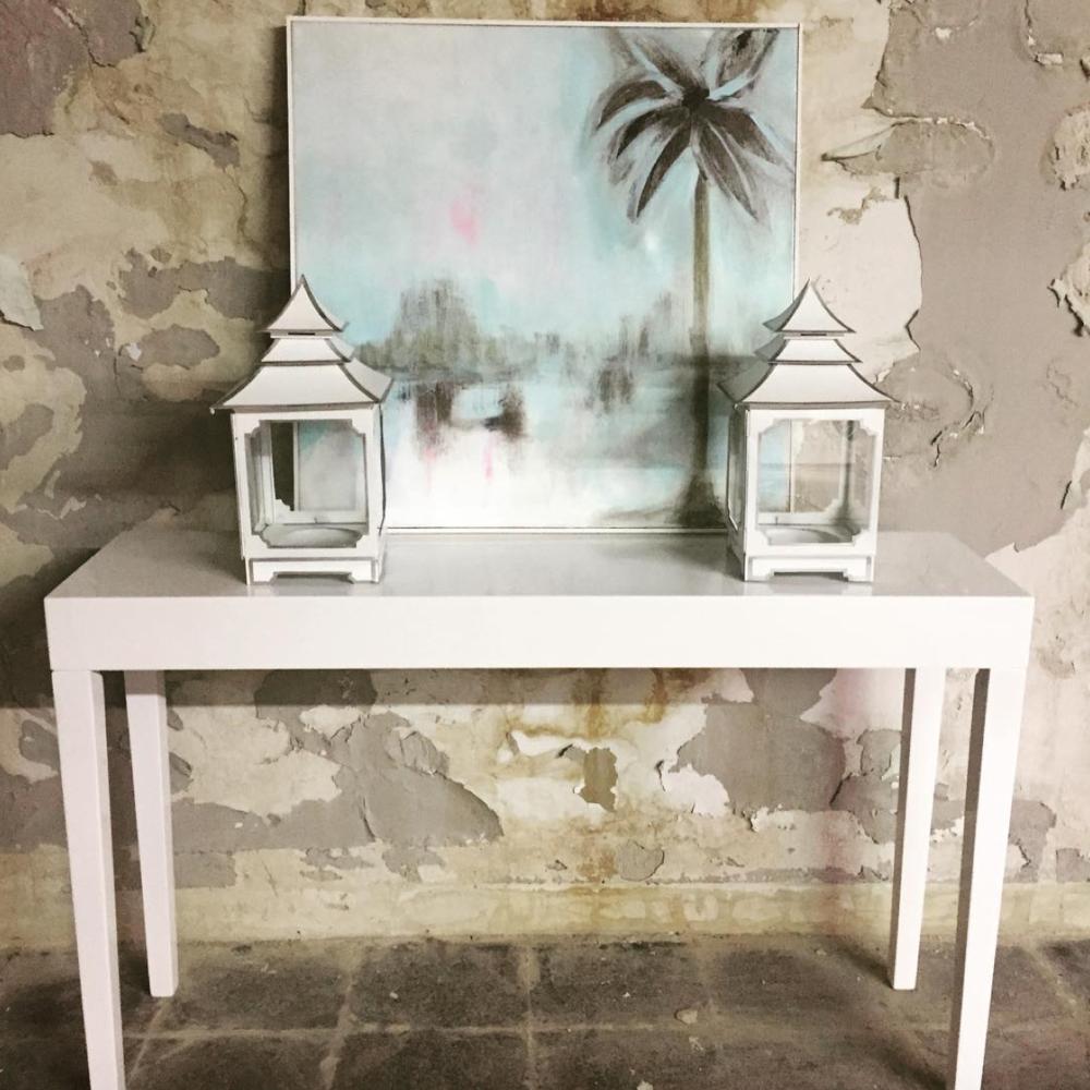 """Palm Beach"", Original Landscape on Canvas By Amy Sims"