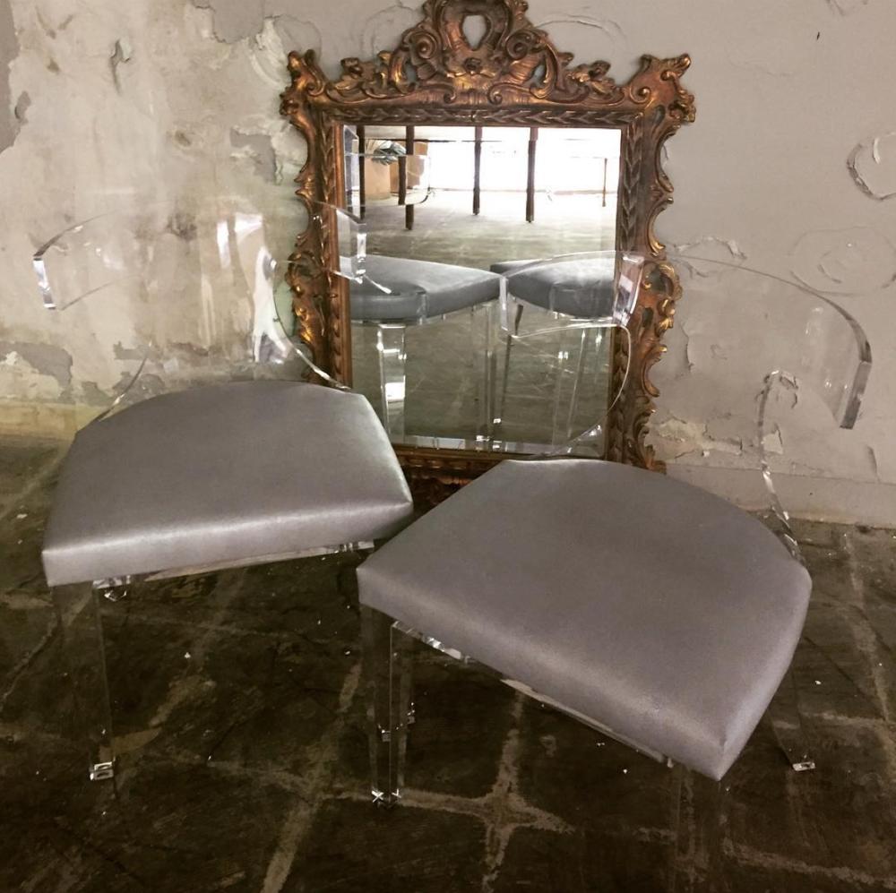 Acrylic Klismos Chairs