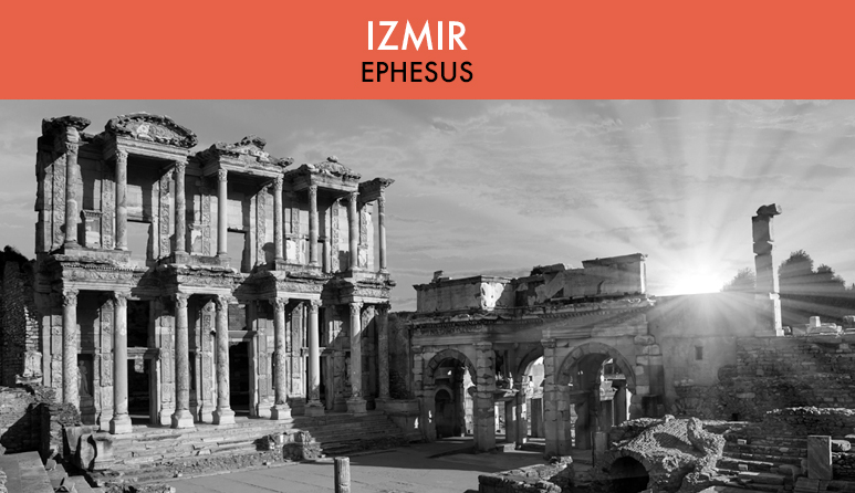Ephesus ruins in Black and White