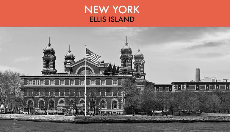 Ellis Island Black and White
