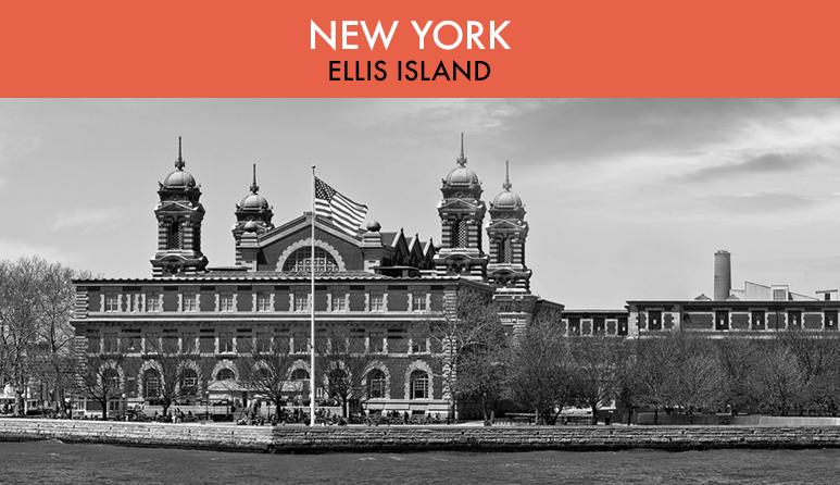 Ellis Island Black and White
