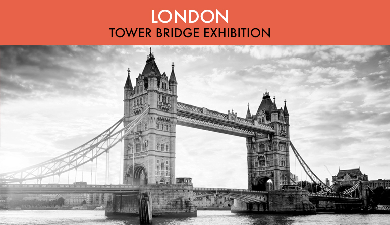 London Tower Bridge in Black and White
