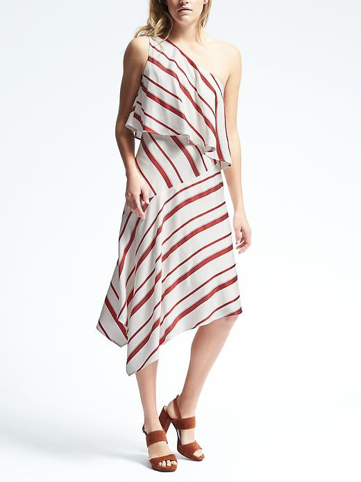 Love, love this dress from Banana Republic £99.50. Great with these shoes, but also a mule or a  slingback . Boyfriend blazer will look great slung over shoulders. Bangles, hoops and sunglasses.