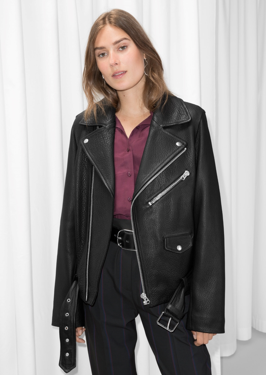 & Other Stories  Longer line, Boyfriend style biker. £345. Although this lacks embellishment and its fairly simple, it packs a punch. This is a style you have to own wear with confidence.
