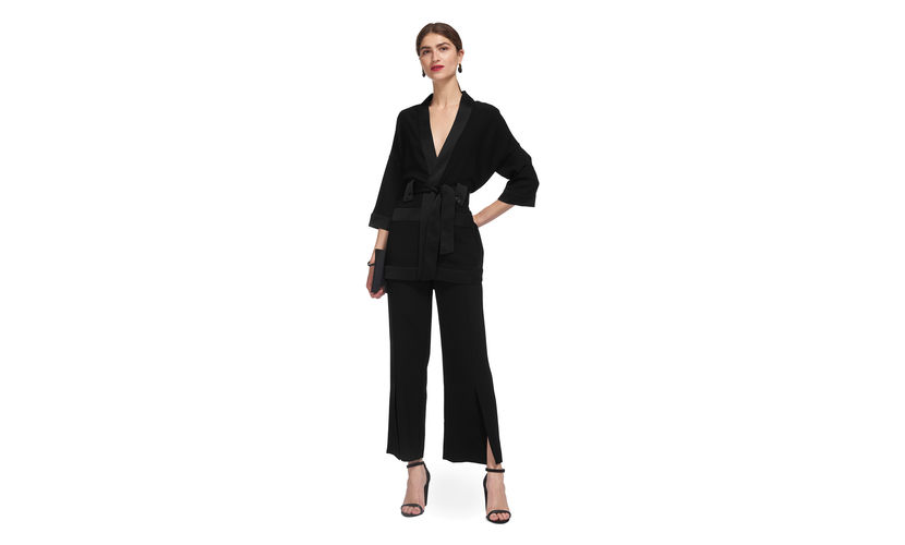 Whistles Kimono style evening suit. Both can also be split up and worn as day wear too. Kimono £145.00 and trousers £129.00