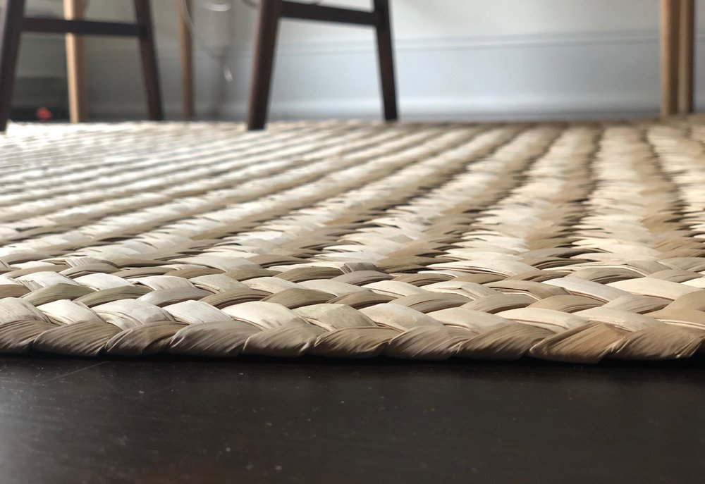 Thick and comfortable petate rug