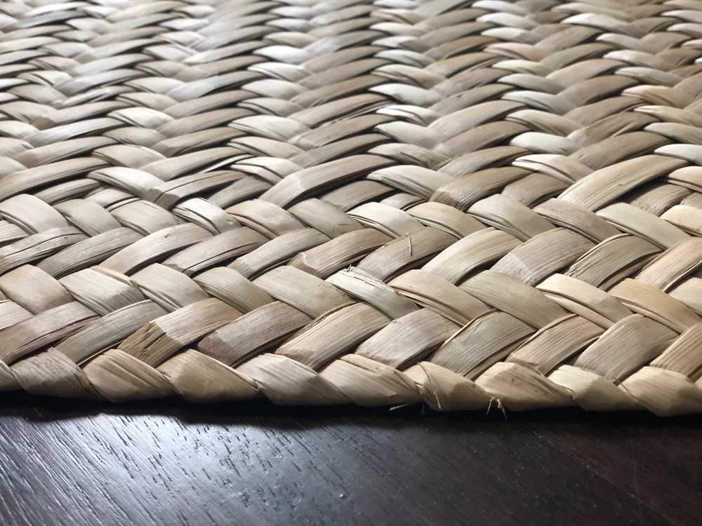 Handwoven with 100% organic tule palm