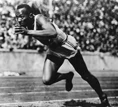 Jesse Owens -- once the fastest man alive -- at the 1936 Berlin Olympics