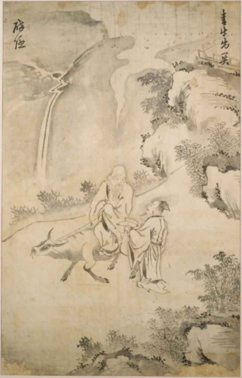 Laozi with his trusty sidekick, the water buffalo