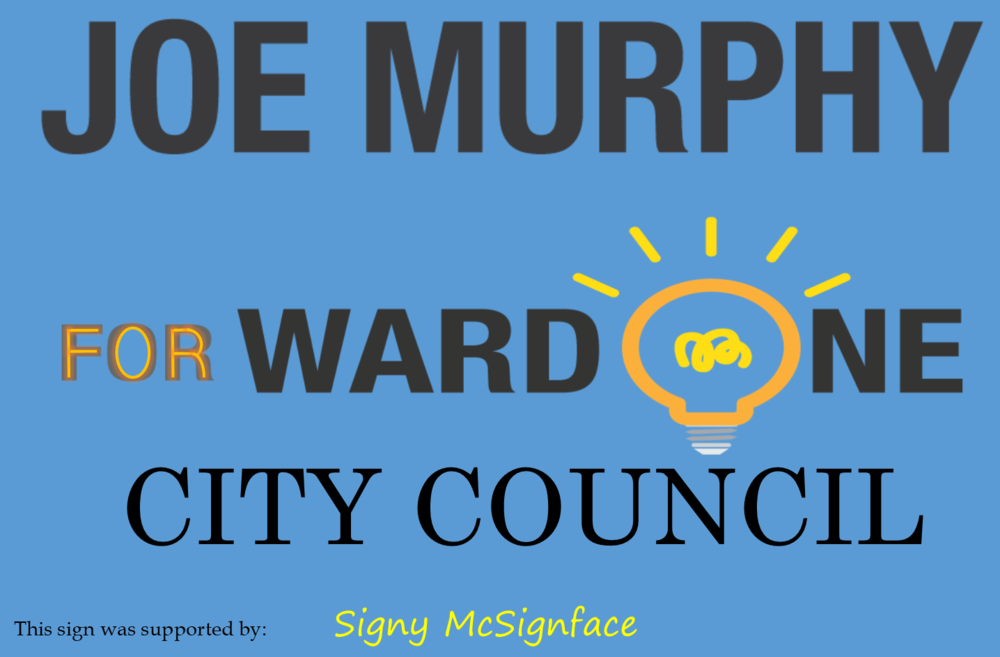 This is a prototype design of my yard signs