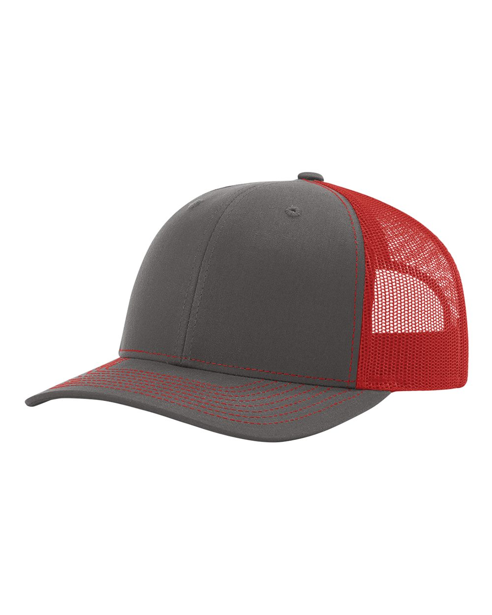 Charcoal/ Red