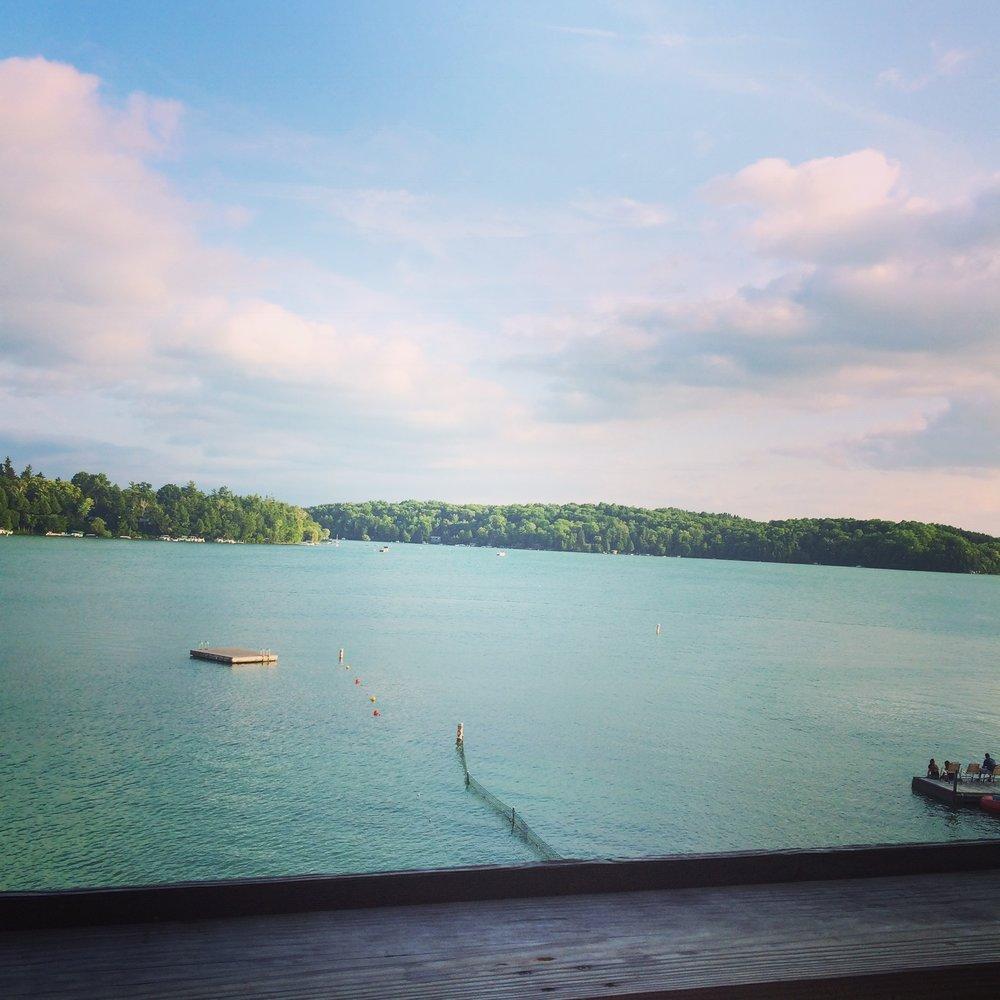 Walk mere minutes to the lake