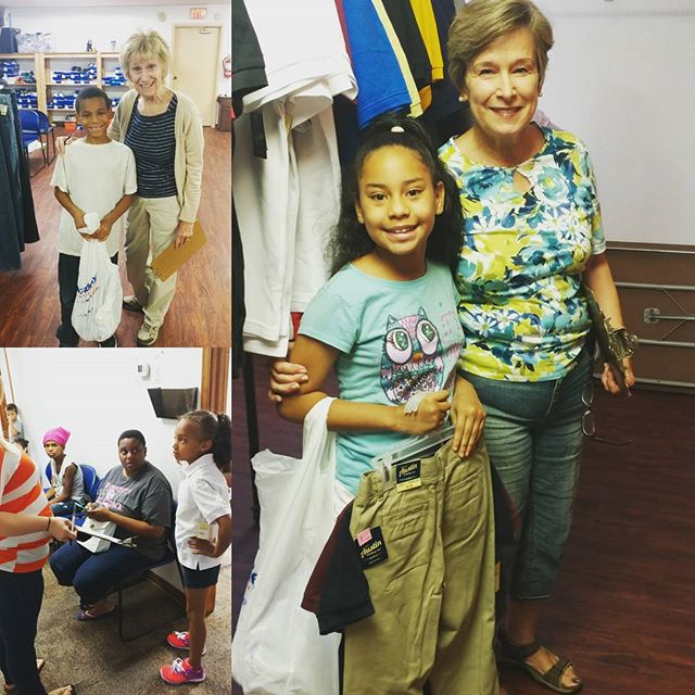 Today is the first day of Clothes 4 Kids distribution. Families are visiting Skyline to pick up school uniforms so that they will be ready and confident for the new school year.