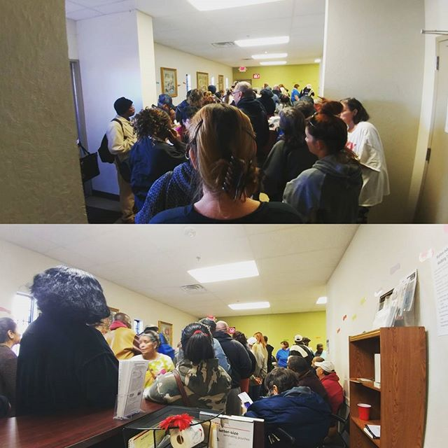 Just like any other place, Food Resource Centers get crowded near the holidays as people try to provide meals to their families. Skyline will be busy like this til we close in late December, so anyone interested in volunteering during a crucial time is encouraged to visit, even if only for an hour.