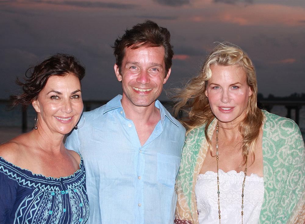 Kim with Philipe Cousteau and Darryl Hannah