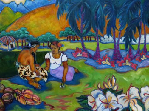 Polynesian-Tranquility-Original-Kim-McDonald-30x40-1