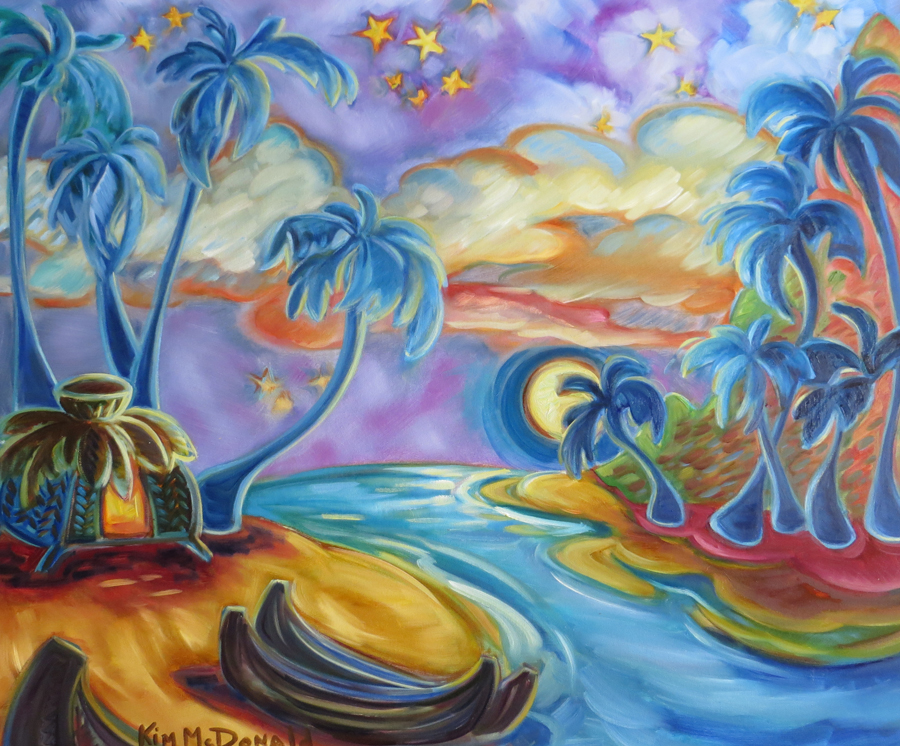 Moonlit Dreams | Original OIl Painting by Kim McDonald of Maui, Hawaii