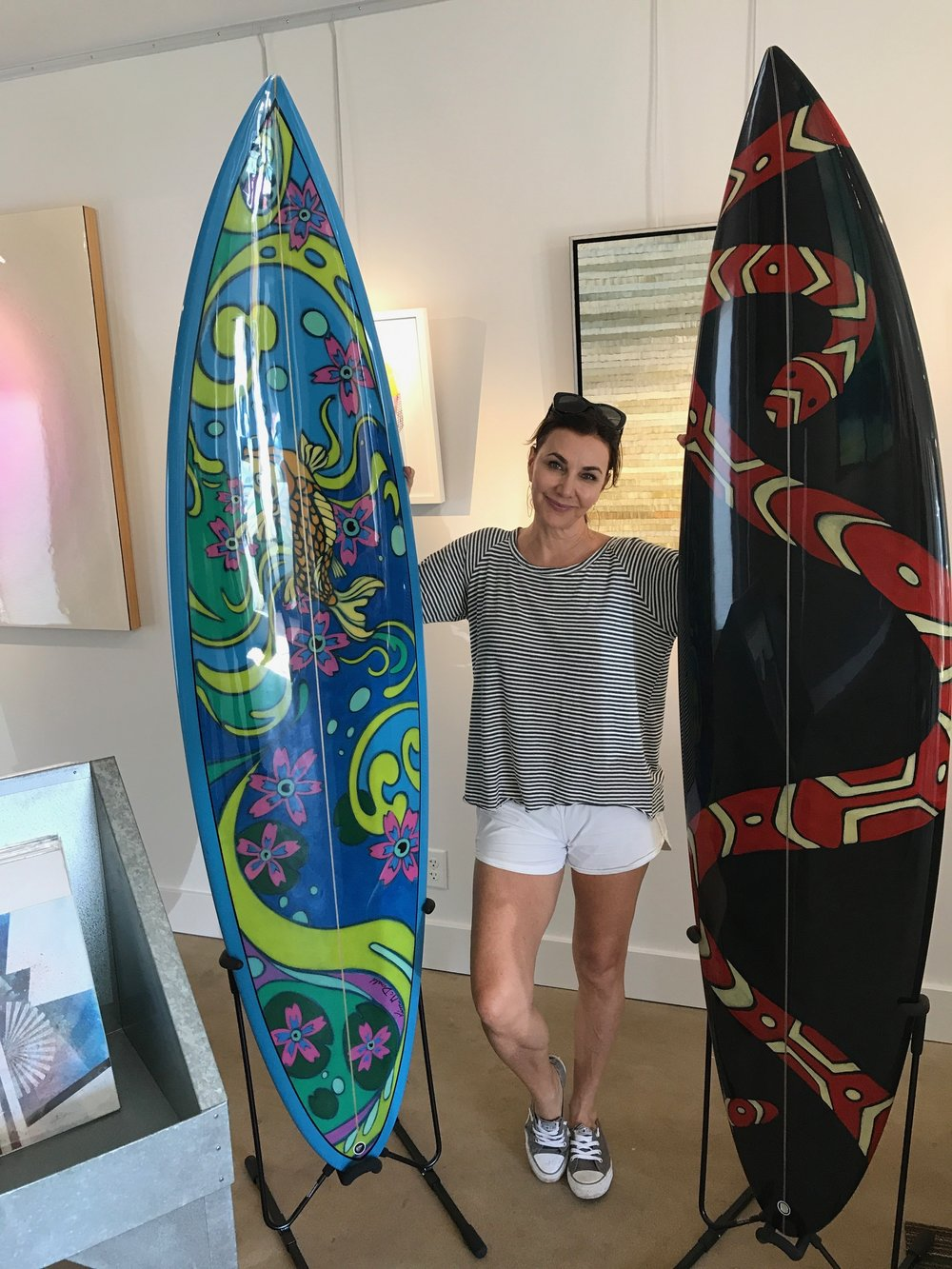 """Mystic Waters"" & Snake Dance"" Surfboards both in size 6'10"""