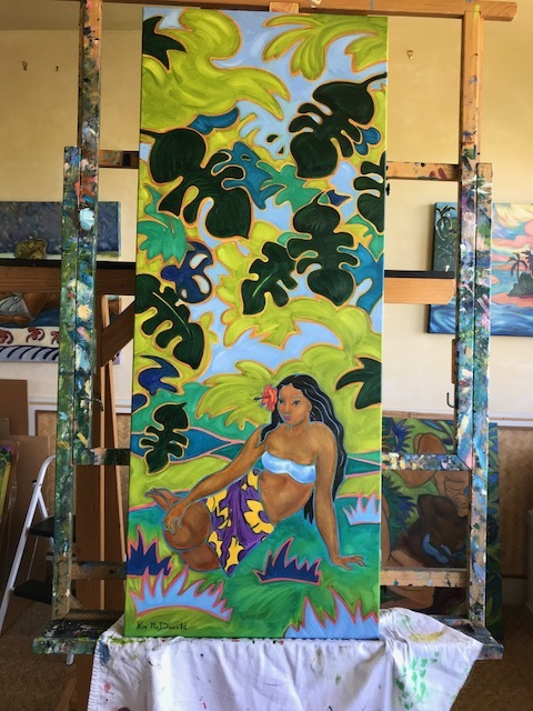 """I love painting Polynesian women. They present such femininity and strength within their culture. I love to depict that throughout my paintings."""