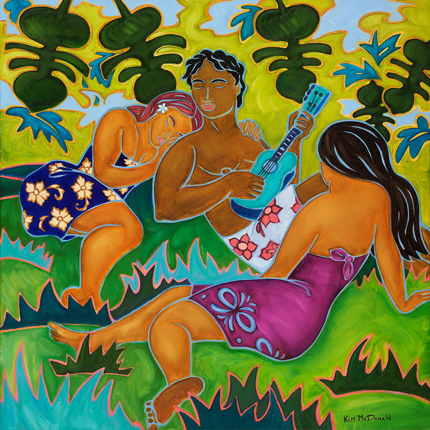 """Jungle Serenade"" Size 22""X22"" & 34""X34"""