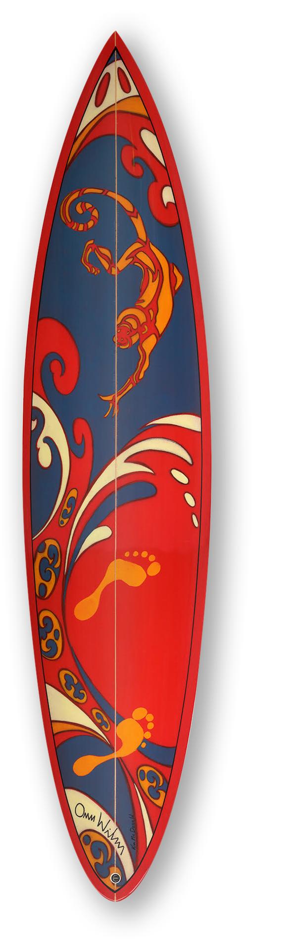 """Monkey Business"" | Size 7'2"" Surfboard | Hand shaped by David Gott"