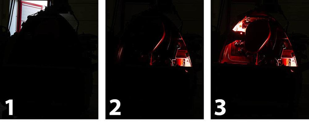Solução de Iluminação Vieira de Castro - passos 1 a 3
