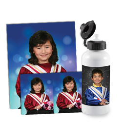 Kindergarten Farewell  Off to bigger and better things, these adorable keepsakes make great gifts for the entire family. This very popular program marks the first major achievement in a classroom setting, pairing traditional cap and gown with child friendly backgrounds and props.