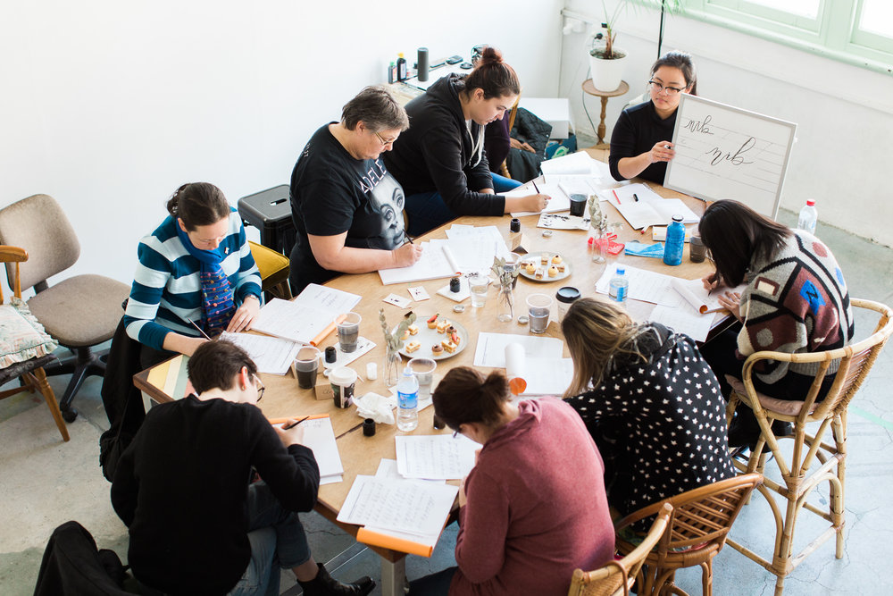 Perth modern calligraphy workshop