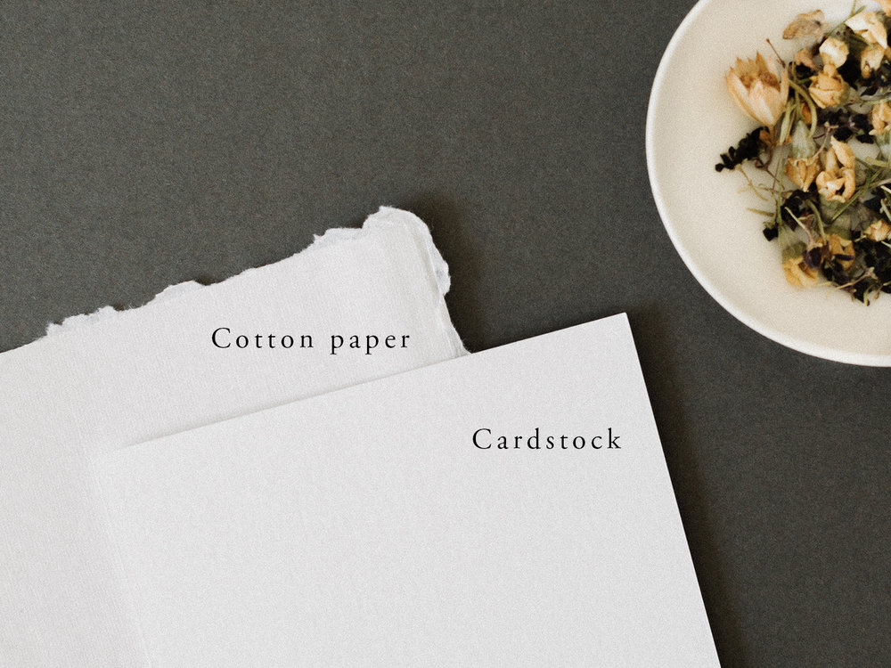 Semi-custom invitation suites | Paper options