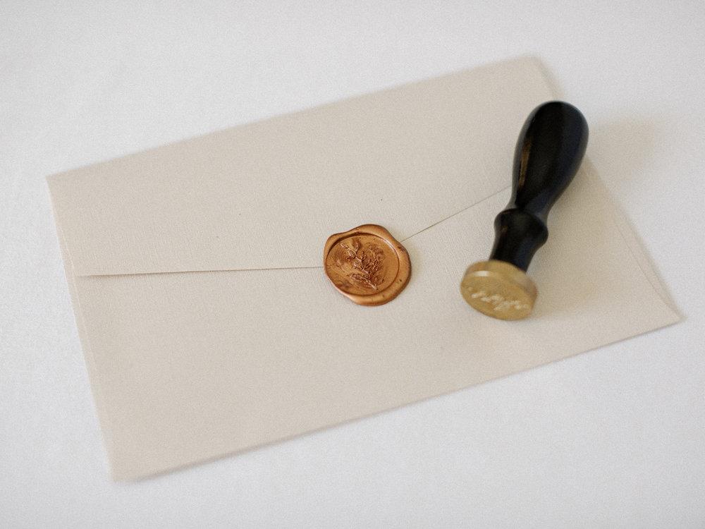 Wax Seal Application    $1.80 per envelope