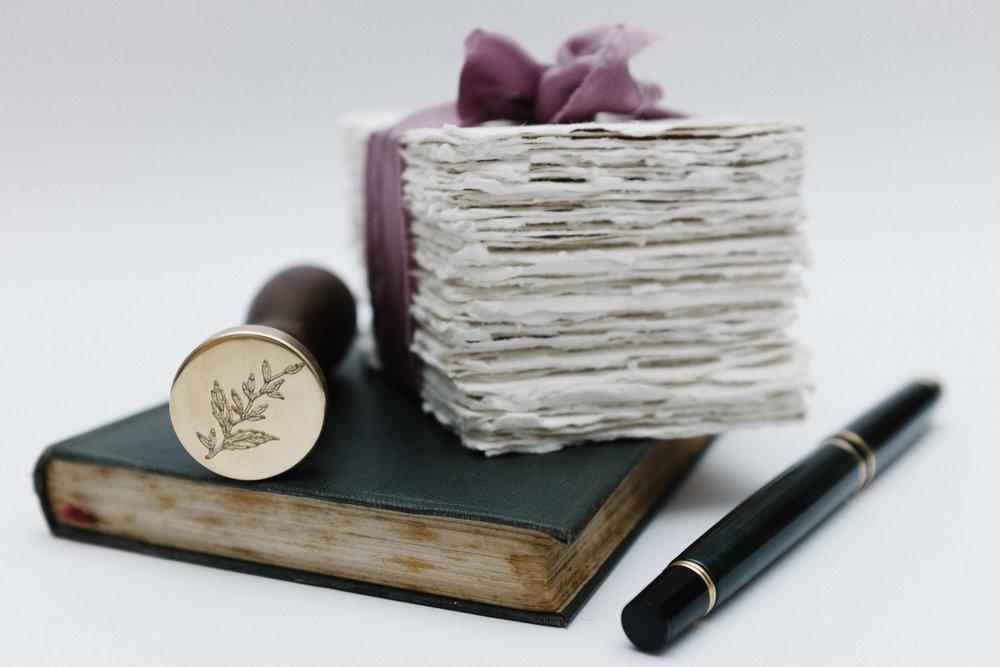 Wax seal and silk ribbon.jpg