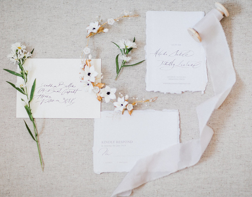 Minimal invitations  Photo by  Lana Ivanova Photo