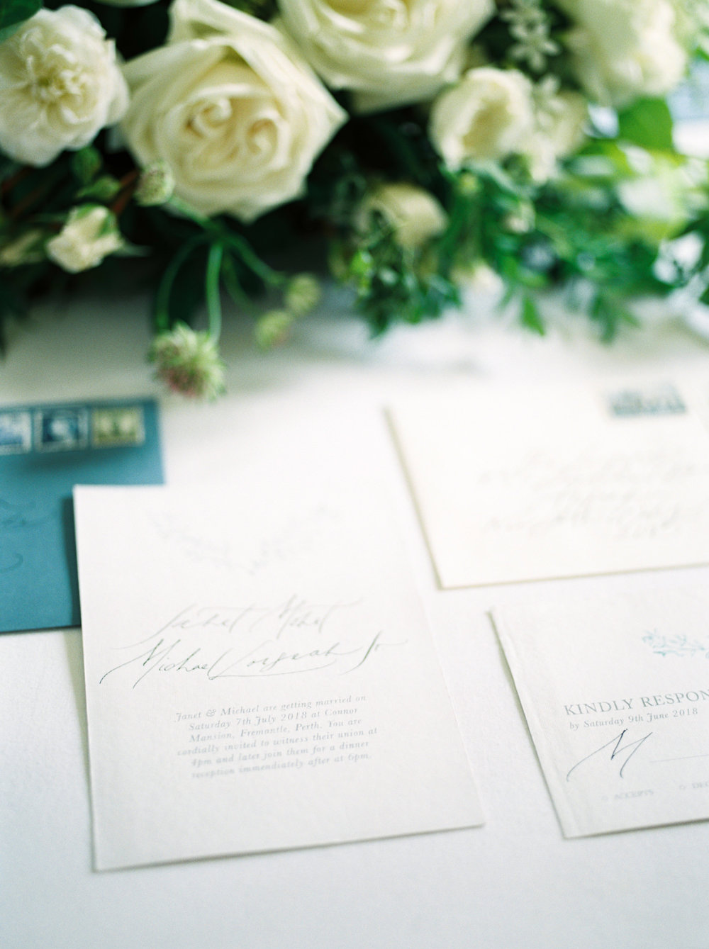 Classic elegant invitations  Photo by  Jonathan Chua Photography