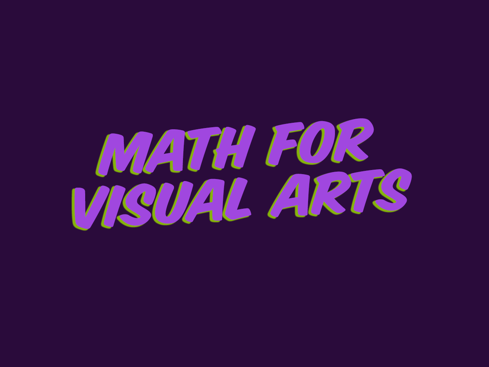 ART 1210 – Math for Visual Arts (QS)   This course covers basic math functions required of visual artists including fractions, decimals, percentages plus cost estimating, budgeting, and turnaround.   Canvas Site  YouTube Videos  Slideshow Lectures  Resources from the Web