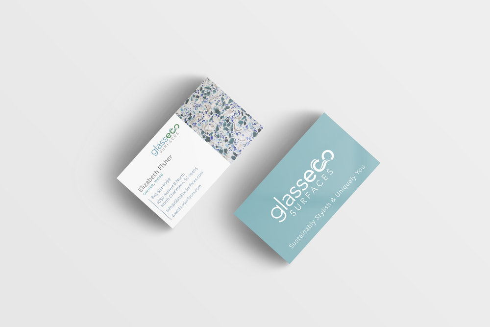 GlassEco Business Card Design