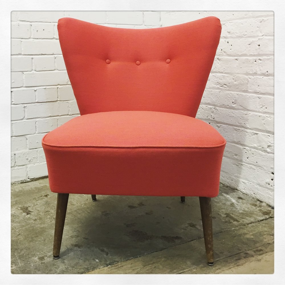 cocktail chair reupholstered