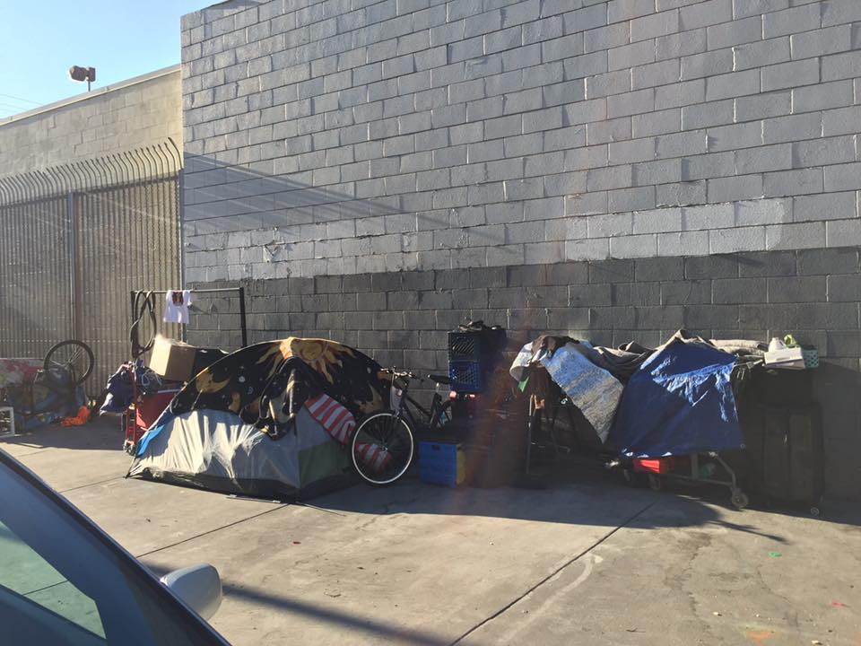 Annual Homeless Drive in Downtown Los Angeles