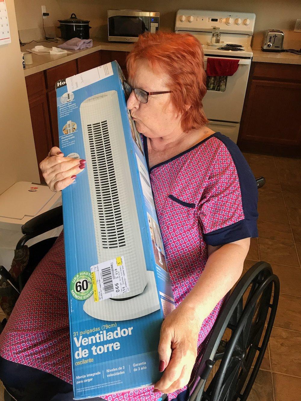 Senior Sharon Webers & fan, 6-22-2018.jpg