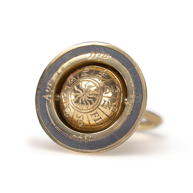 18ct gold Armilliary ring